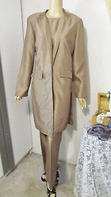 Mother Of The Bride Ensemble by Chadwicks-Size 12- Gold Slacks/shell/Jacket