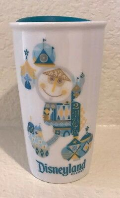 NWT! Starbucks Disneyland Exclusive Small World Travel Tumbler Mug 2017