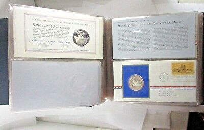 Postmaster of America Commemorative Silver Coins With First Day Issued Stamps
