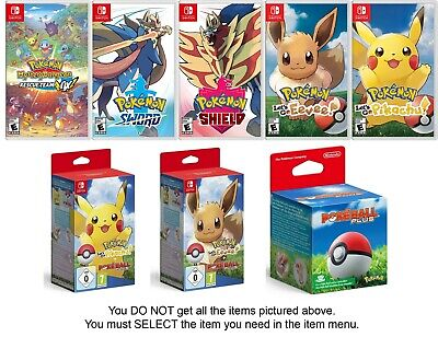 Pokemon: Let's Go, Pikachu / Let's Go, Eevee / Poke Ball Plus - Nintendo Switch