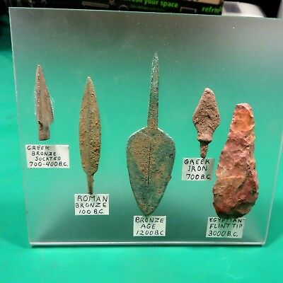 5 Greek Roman Egyptian Arrowheads Collection 700Bc To 1200Bc Sadigh Gallery Set