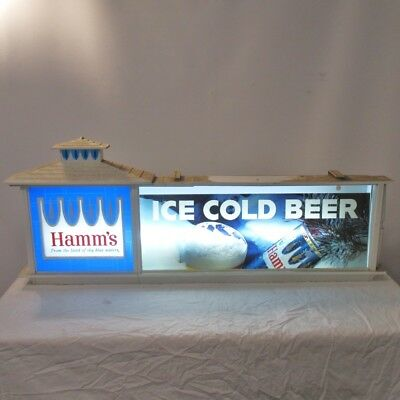 Vintage Hamms Beer Light up Wall Sign Home Decor Powers On Local Pickup Only