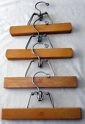 "Lot of 4 Setwell Pants Hangers / Skirt Hangers 10"" long Excellent Condition"