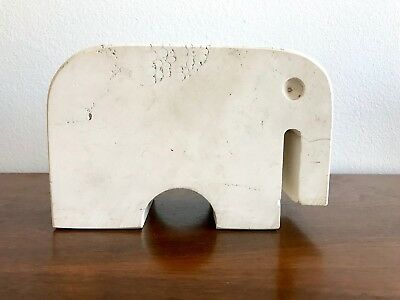 Fratelli Mannelli Solid Travertine Stone Elephant 1965 Art Sculpture Italy