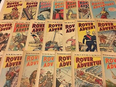 Job Lot - 21 Rover And Adventure Comics - Years 1961 & 1962