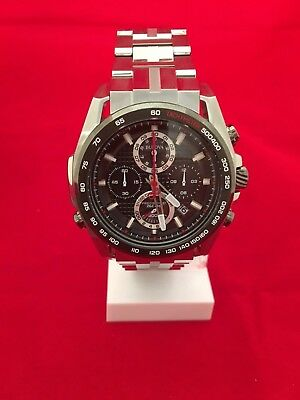 *BRAND NEW* Bulova Men's Black Chronograph Dial Stainless steel Watch 98B270