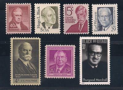 Supreme Court Justices - Set Of 7 U.s. Postage Stamps - Mint Condition