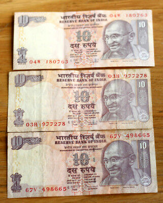 3x10 Rupees, Bank of India, 2009.--2011.