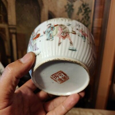 Chinese Antique Famille Rose Porcelain Cup