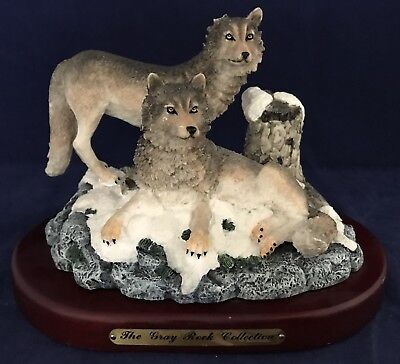 Amy & Addy Wolf Statue/Figurine The Gray Rock Collection