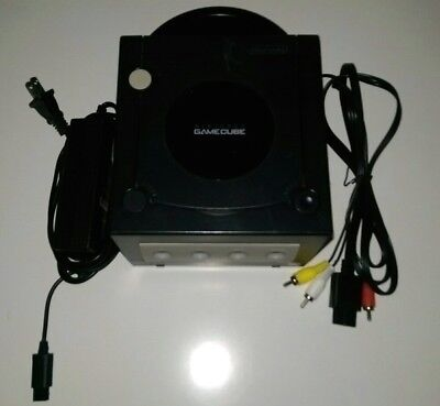 Nintendo GameCube Console Box Black Power Cord Composite Cord Fully Tested 2306