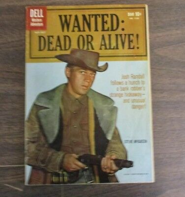 DELL WESTERN FOUR COLOR COMIC WANTED:DEAD OR ALIVE #1102 STEVE McQUEEN #1 Issue