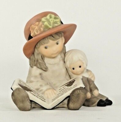 Enesco Kim Anderson Sharing Our Stories Porcelain Bisque Figurine With Box 1999
