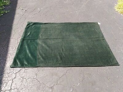 Emerald Green Solid Dark Tapestry Lap Robe Buggy Carriage Sleigh Blanket