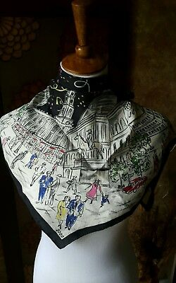 Vtg 2000 Millennium Times Square New York New Years square scarf