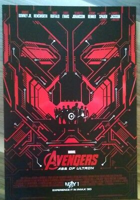 MARVEL STUDIOS AVENGERS: AGE OF ULTRON (RED) MARVEL IMAX Exclusive promo Poster