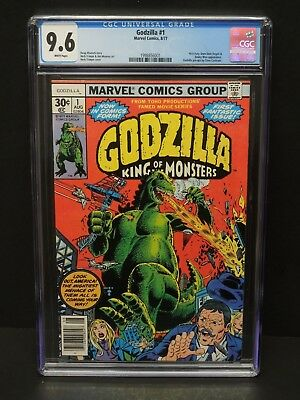 Marvel Comics Godzilla King Of Monsters #1 1977 Cgc 9.6 Wp Herb Trimpe Cover