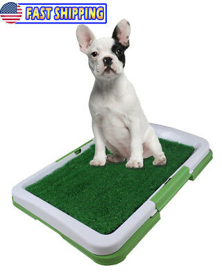 Pet Potty Toilet Pad Tray - Indoor Dog Bathgroom Trainer Grass Pee Patch - Small
