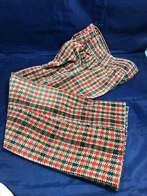 Vintage Billy The Kid Youth Child Corduroy Pants Red/White/Green Plaid Design