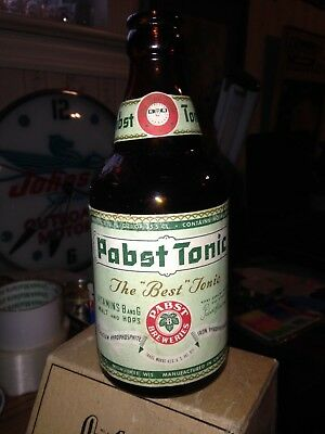 Pabst  Brewing Co Tonic Paper Label Beer  Bottle Never Saw One Of These Before