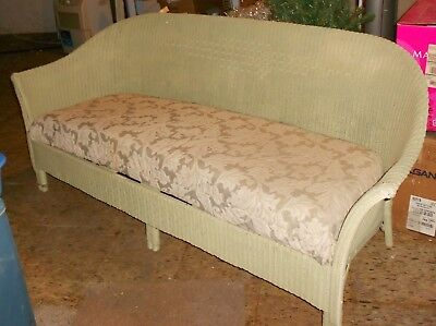 Beautiful Antique Victorian Real Wicker Upholstered Couch