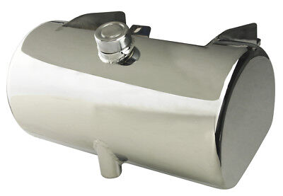 Ultima 3.5 Chrome Plated Center Fill Round Oil Tank for Wide Softail Frames