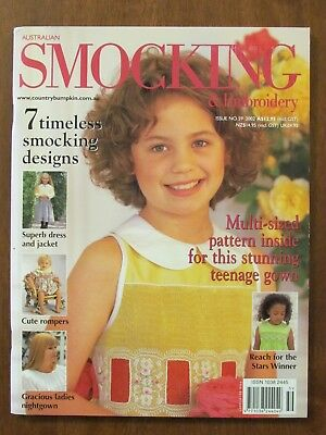 Australian Smocking & Embroidery - Issue #59 2002 Exc Dress & Jacket Nightgown