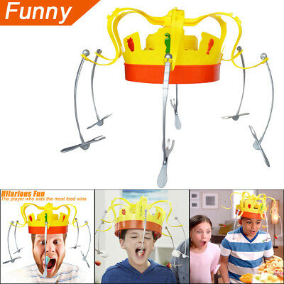 Novel Chow Crown Game Musical Spinning Crown Snacks Food Party Family Game Toy A