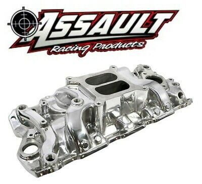 SBC CHEVY 350 400 Polished High Rise Aluminum Single Plane Intake