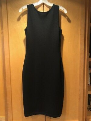 St. John Collection Black Sheath Sleeveless Dress Size 2