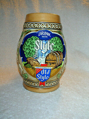 VINTAGE 1983 OLD STYLE BEER STEIN WISCONSIN VERSION by CERAMARTE - OLDS83W