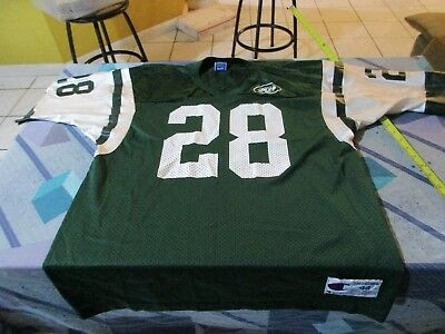 b4e64ca1673 Curtis Martin #28 New York Jets Vintage Champion Green Jersey Size 44 NFL