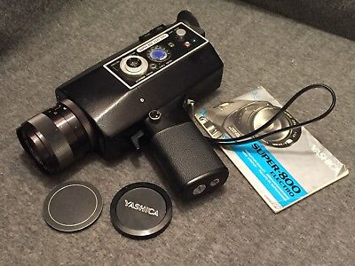 YASHICA SUPER 800 ELECTRO MOVIE CAMERA 7.5-60mm f/1.6, 8 to 1 Zoom, WORKS