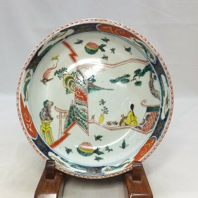 A013: Japanese bowl of old IMARI colored porcelain with appropriate painting 2