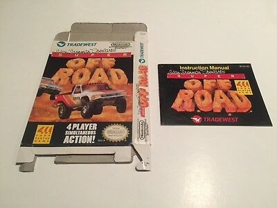 Super Off-Road - Nintendo,Nes - BOX W/ Instruction,Manual ONLY