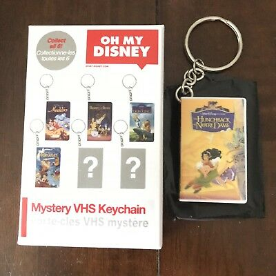 Oh My Disney Mystery VHS Keychain The Hunchback Of Notre Dame NEW opened