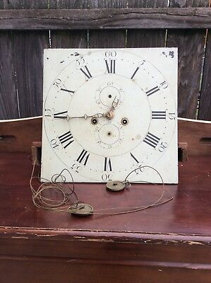 Tall Case Clock Movement with Square Dial, Parts / Repairs.