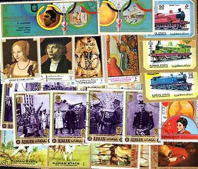 AJMAN collectables of 50 à 1000 stamps different