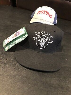 NEW VINTAGE RARE Roman NFL Throwbacks 1967 Oakland RAIDERS Cap Hat FITTED 6 3/4
