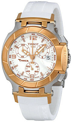 Tissot T-Race Chronograph White Dial Ladies Watch T0482172701700