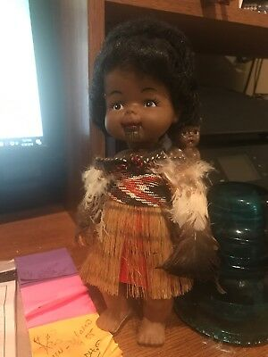 "9"" Maori doll - New Zealand with Baby"