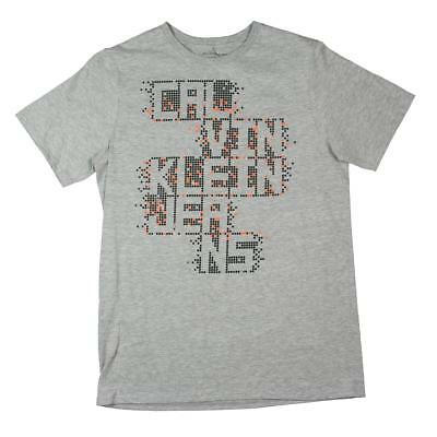 Calvin Klein Jeans Boys Gray Gamer Logo T-Shirt Top XL 18/20 BHFO 2258