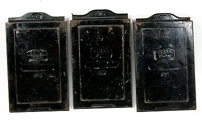 3- (Three) Zeiss Ikon 665/7 Metal Film Holders for 9x12cm Format With Slides