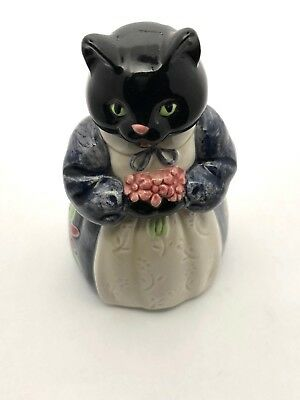 Hand Painted Ceramic Cat From Japan