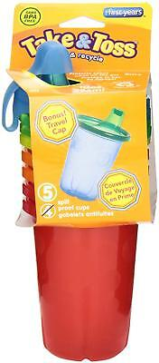 2-Pack The First Years Take & Toss Spill-Proof Sippy Cups, 10 Ounce, 4 Count