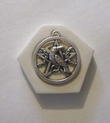 Raven Moon pentagram Hard Polymer Clay Mold DIY Jewelry Pendant Size 1-1/8""