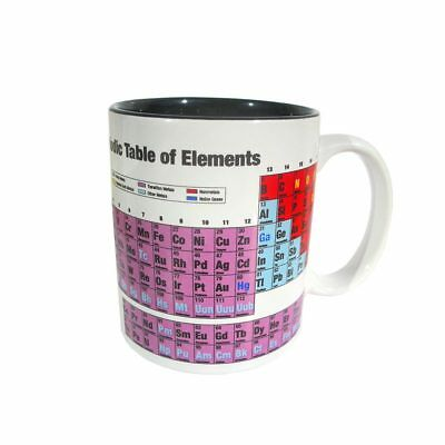 Periodic Table of Elements Mug Super White Science Cup Chemistry Coffee