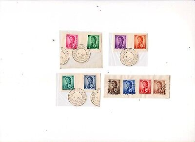 "Hong Kong, 1962, ""definitive - 5 Cents To $1"" 10 Used Stamps On Paper Good"