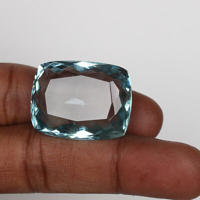 51.80 Ct. Natural Aquamarine Greenish Blue Color Cushion Cut Loose Gemstone