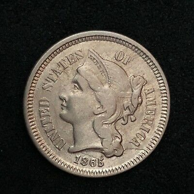 1865  Nickel Three-Cent Piece